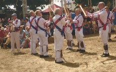 Traditional dancing Morris men