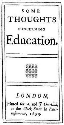 Title of Locke\'s Thoughts Concerning Education