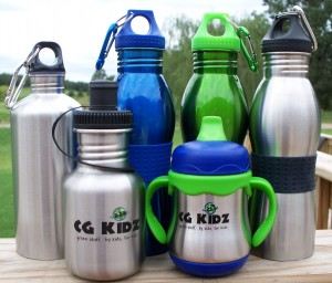 CGKidz Line of Stainless Steel and Aluminum Bottles for Kids