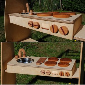 FSC certified wooden portable kitchen toy