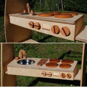 FSC certified wooden portable kitchen toy