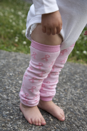 Pink Ribbon BabyLegs for Breast Cancer Awareness