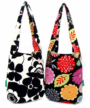 reusuable, reversible fashionable totes