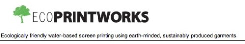 ecoprintworks custom screen printing uses water-based inks on organic textiles