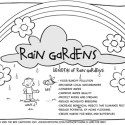 Hank D and the Bee: Rain Garden Coloring Sheet