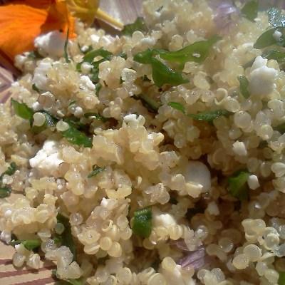 Summer Power Dinner: Garden Quinoa Salad