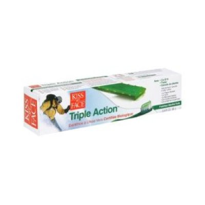 Eco-Friendly Products:  Kiss My Face Triple Action Toothpaste with Aloe Vera Gel