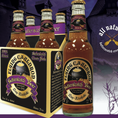 Attention Wizards and Witches:  Flying Cauldron Butterscotch Beer (non-alcoholic)
