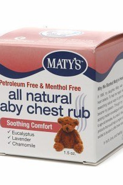Herbal Cold Remedies:  Maty's All Natural Baby Chest Rub