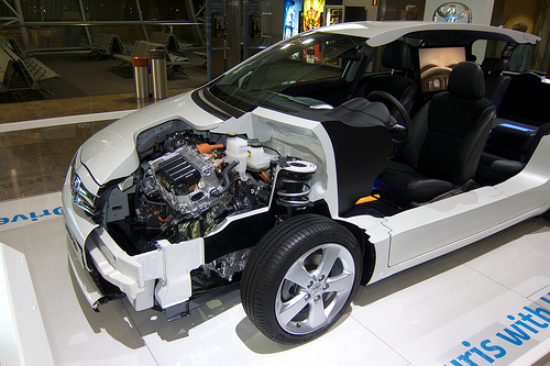 Hybrid car half-section