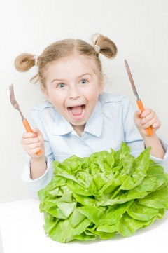 bigstock-Vegetarian-food--little-girl--17580263