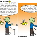 Hank D and the Bee: How About Lifting the Toilet Seat?!