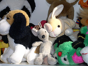 Different types of stuffed toys