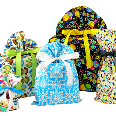 VZ Wraps:  Eco-Friendly Organic Cotton Reusable Gift Bags