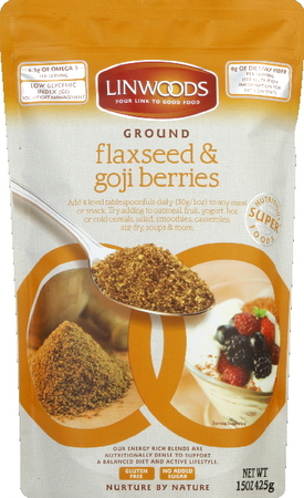 Linwoods Super Foods:  Hemp, flaxseeds, almonds, goji berries