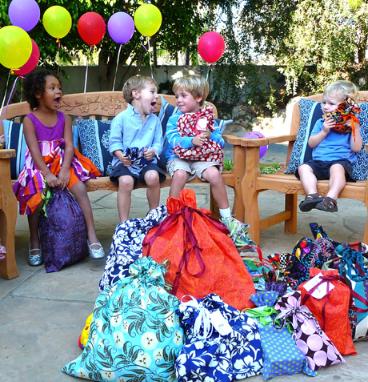 cloth reusable gift bags