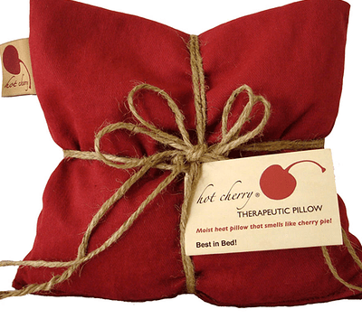 GREEN & SUSTAINABLE Our pillows are made with Michigan tart cherry pits, cleaned without chemicals, naturally dyed, minimally packaged, and made in the USA.