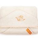 Super soft, super snuggly organic cotton baby towel by Erbaviva