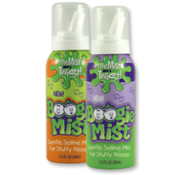 Boogie Mist:  Natural Saline Mist Helps Clear Nasal Passages