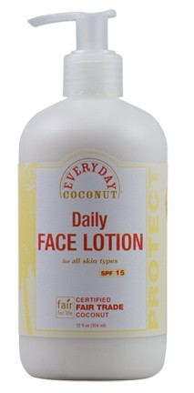 Fair Trade Everyday Coconut Daily Face Lotion:  Broad Spectrum SPF 15