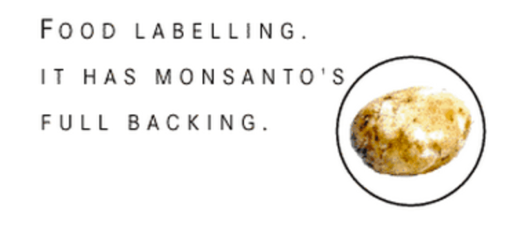 Monsanto supported GMO labeling in Europe after the fact
