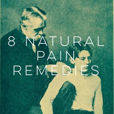 8 Natural Pain Remedies