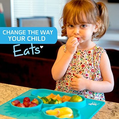How to Teach Your Child to Self-Feed + Osho Silicone Placemat Review
