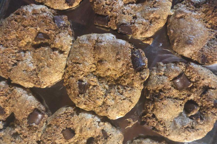Gluten free vegan chocolate chunk oatmeal muffins