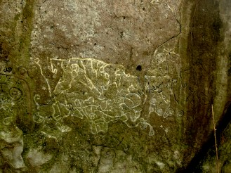 Petroglyphs: A map of the area