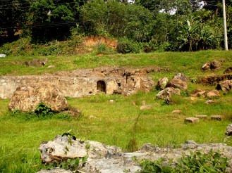 A few years back part of the ruins was damaged when the town was hit by severe landslides