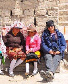 Annie Young, visiting Ecuador