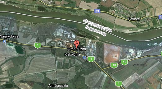 Резервуар із небезпечним шламом поблизу Дунаю
