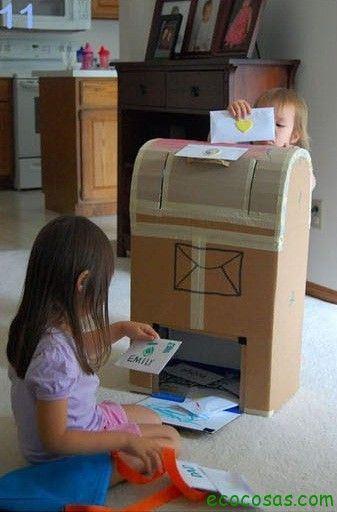 buzon de carton  25 formas de reciclar cajas de cartón para que tus hijos se diviertan