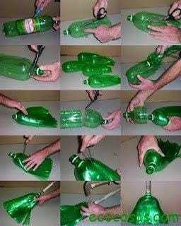 escoba Ideas para reciclar botellas de plástico