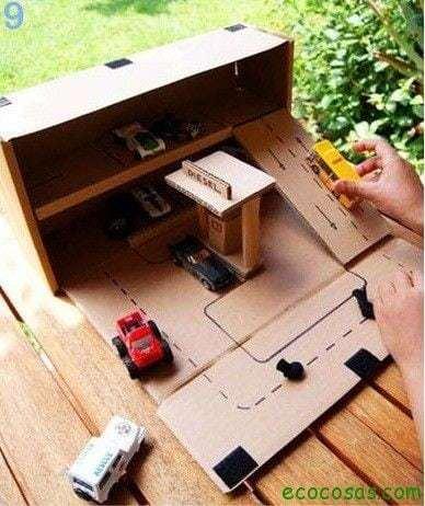 gasolinaera de carton  25 formas de reciclar cajas de cartón para que tus hijos se diviertan