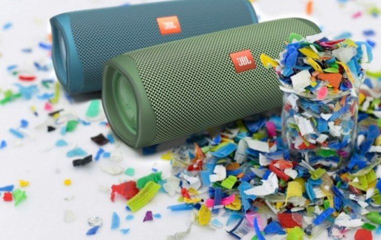 jbl speakers made from recycled plastics