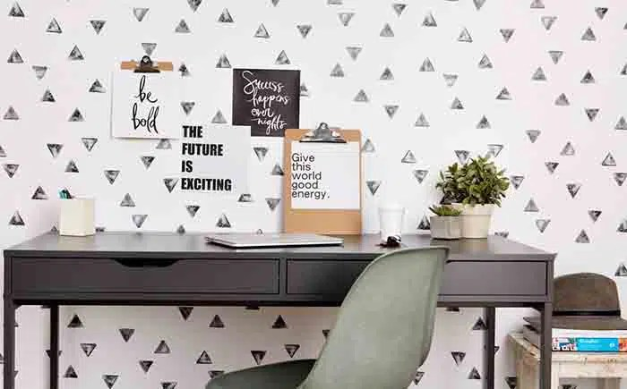 Organic cotton removable wallpaper // great for renters!