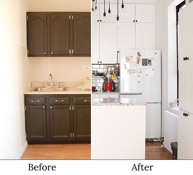 Sustainable Apartment Renovation Before And After The Kitchen