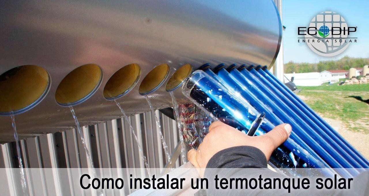instalación de un termotanque solar