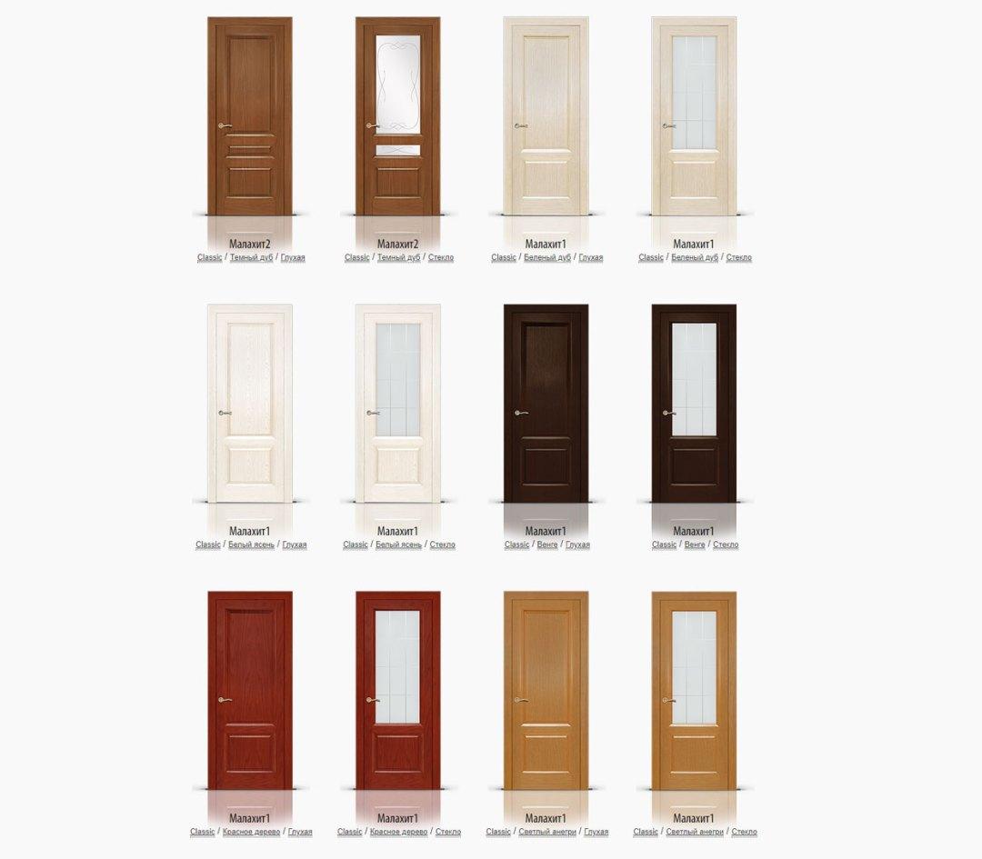 Шпонированные двери фабрики СитиДорс в Оренбурге
