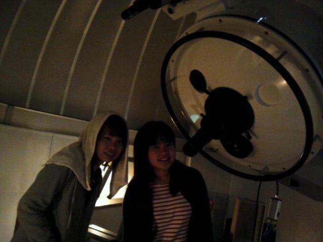 中之島の天文台で天体観測