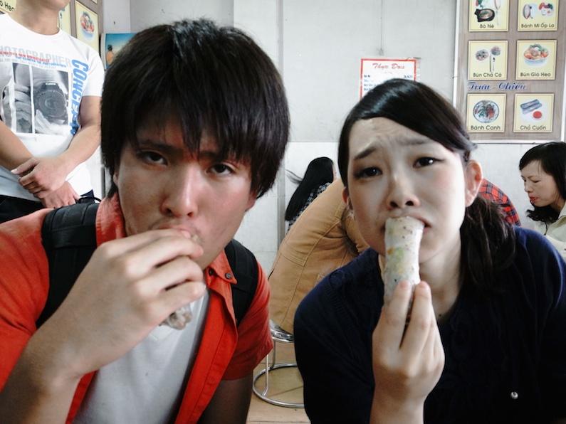 村おこしボランティア【ベトナム ダサ村コース】で食べたコーンの春巻き