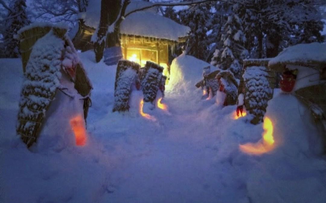 伝統のお面さん祭りと、幻想的な夜景