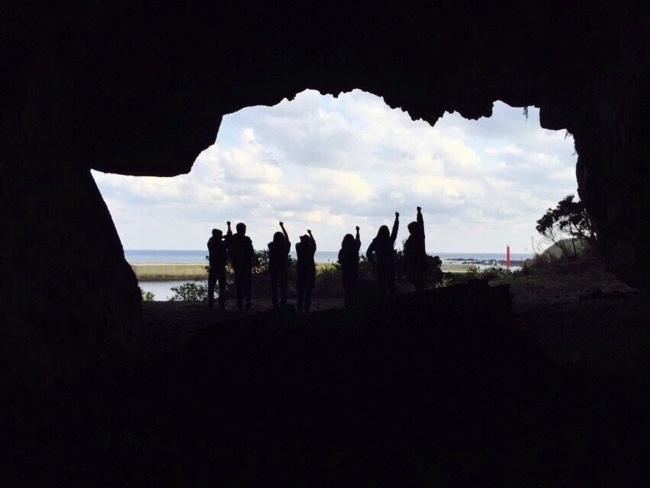 トカラ列島諏訪之瀬島の乙姫の洞窟にて