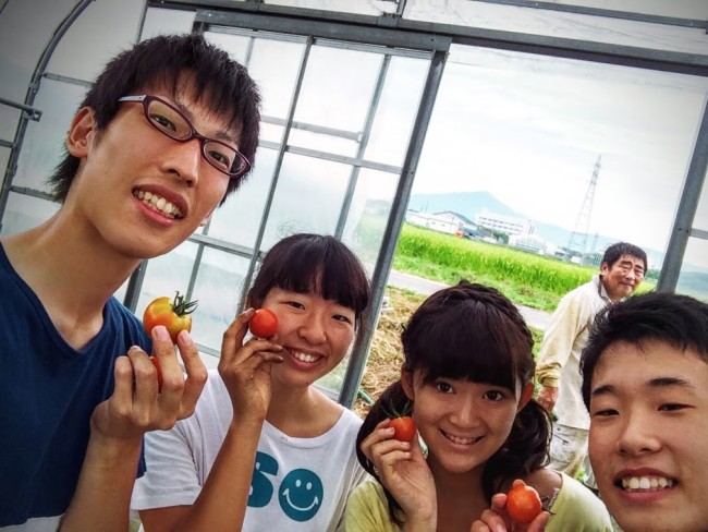 福井県北谷での村おこしボランティアの様子