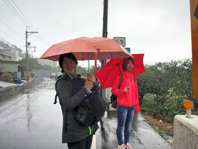今日も淡水は雨でした