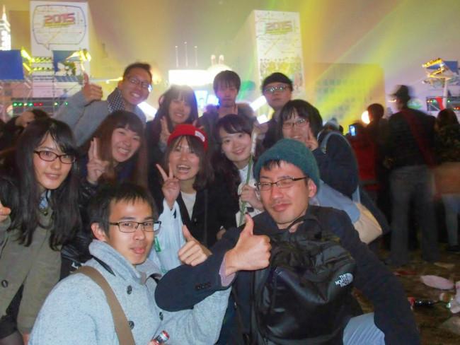 年末年始の村おこしボランティア【台湾 淡水コース】参加メンバーも台北101の花火と共に年越しをしました