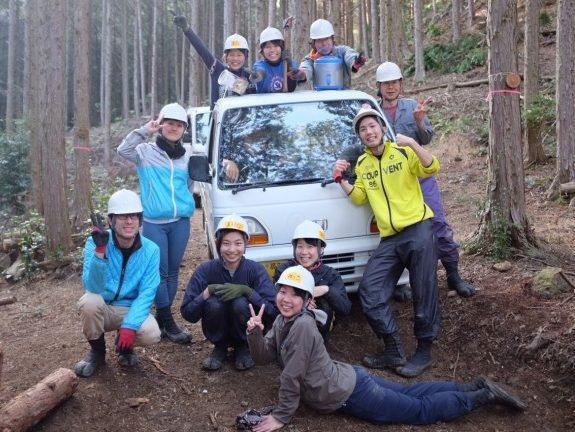 四万十川コース7日目。今日は山での作業最終日!