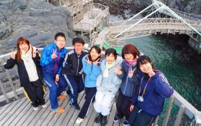 赤崎遊歩道から伊豆諸島の島々を眺める