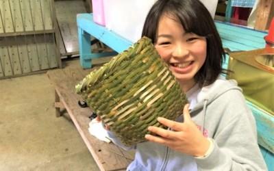 竹籠が完成!